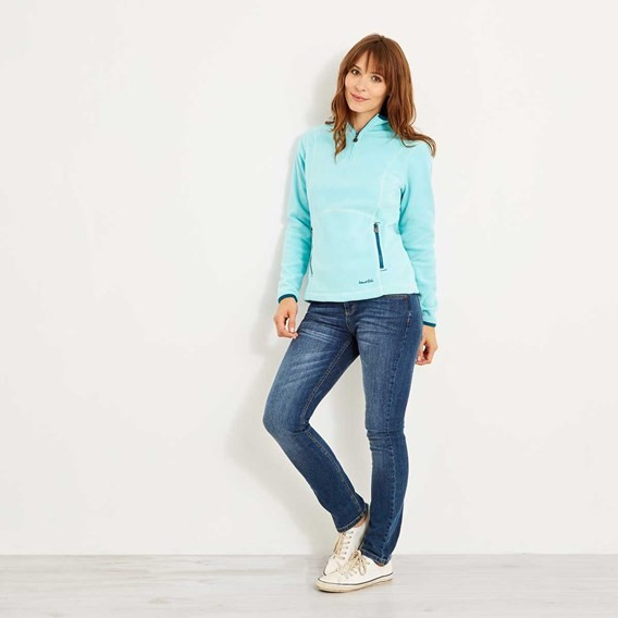 Christie 1/4 Zip Microfleece Aqua Sky