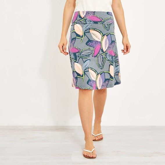 Accona Quick Dry Printed Jersey Skirt Dusty Teal