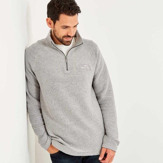 Helm Siera 1/4 Zip Soft Knit Grey