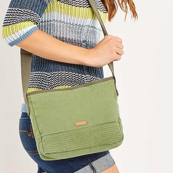 Britta Cotton Cross Body Bag Avocado
