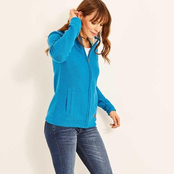 Eartha Full Zip Sierra Knit Blue Sapphire