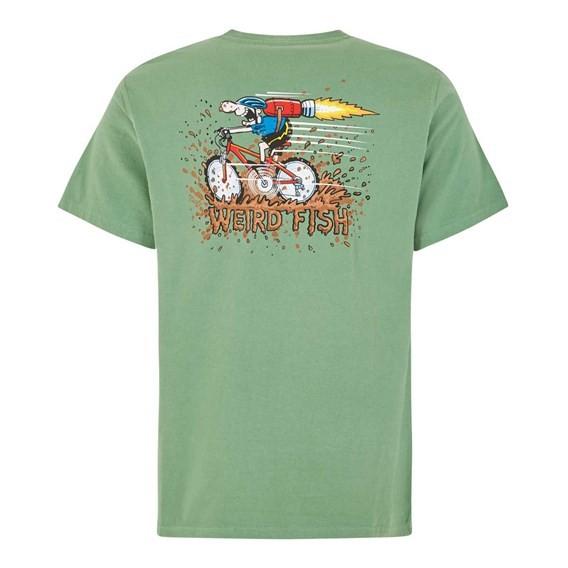 Rocket Bike Artist T-Shirt Ivy Green
