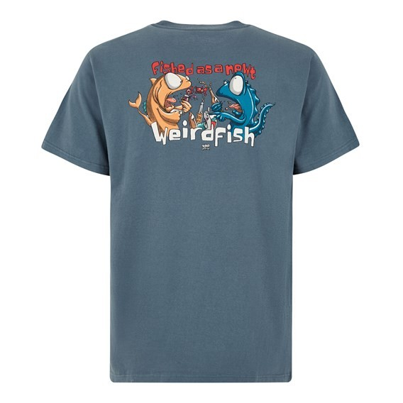 Fished As A Newt Artist Tee Dusty Teal