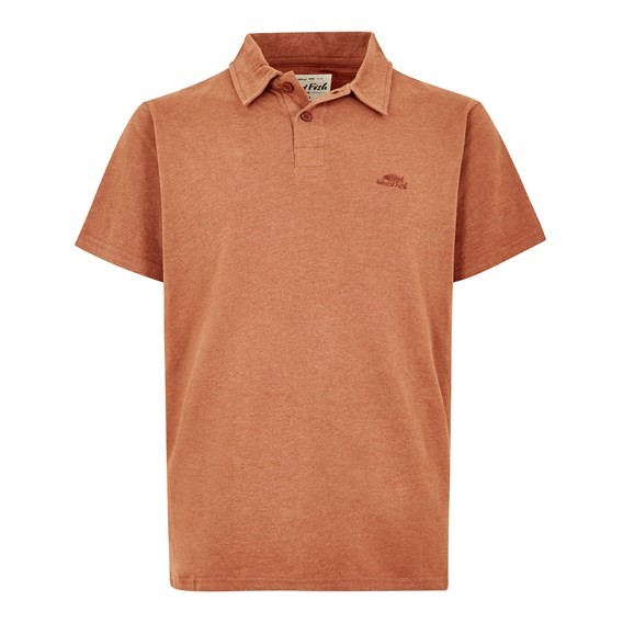 Tyrie Branded Polo Brick Orange Marl