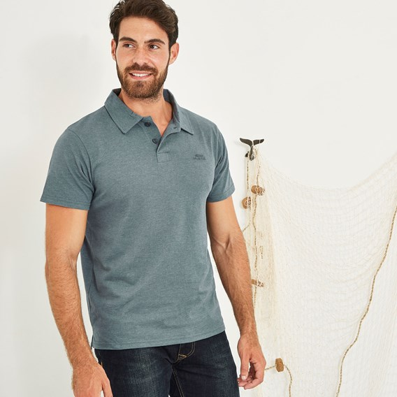 Tyrie Branded Polo Dusty Teal Marl