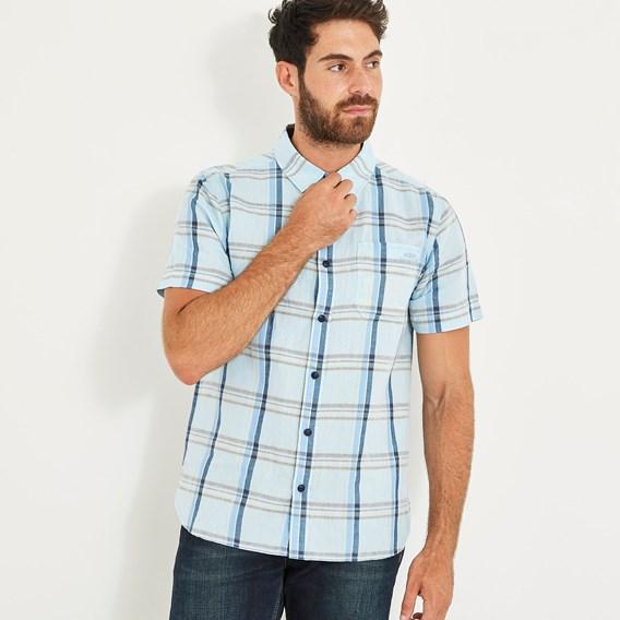 Winnfield Chambray Sort Sleeve Shirt Pale Denim