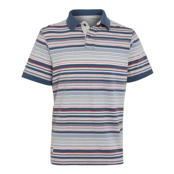 Calama Striped Polo Shirt Blue Mirage