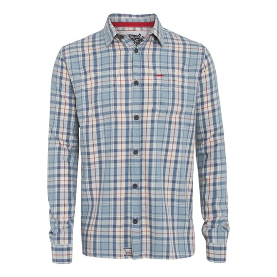 Wiccan Long Sleeve Check Shirt Cloud Blue