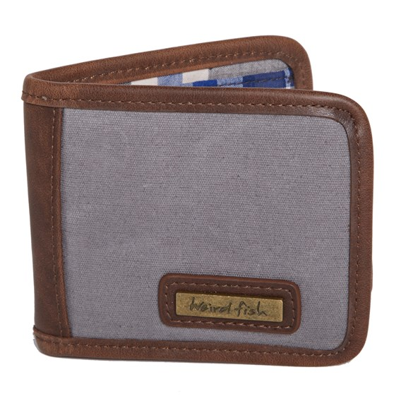Indo Waxed Canvas Wallet Grey