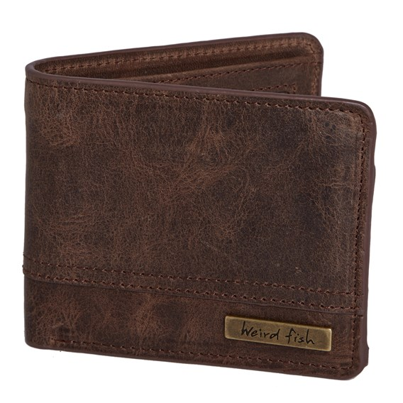 Thorn Leather Embossed Wallet Brown