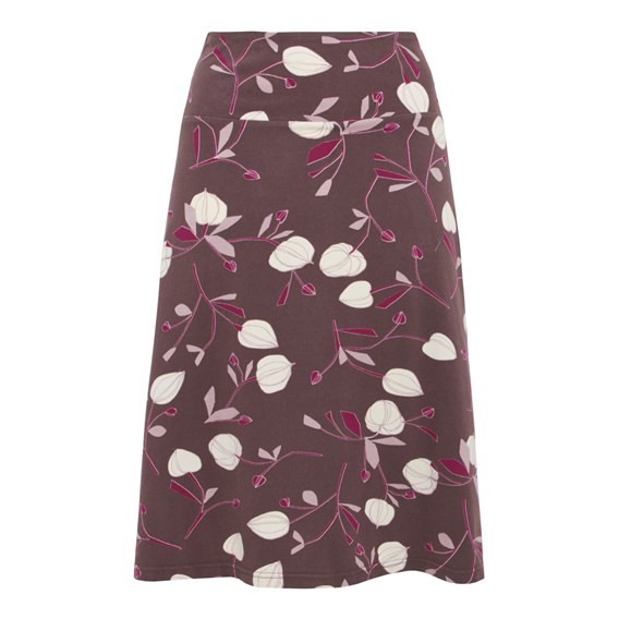 Covert Printed Jersey Skirt Raisin