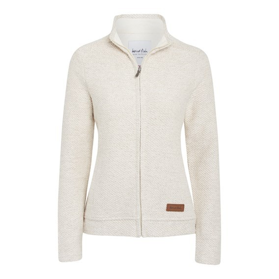 Ullen Full Zip Light Macaroni Sweatshirt Ecru