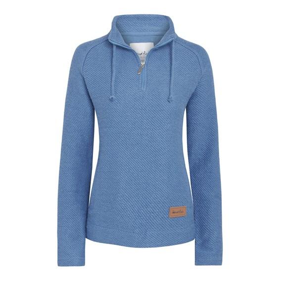 Fairview 1/4 Zip Light Macaroni Sweatshirt Dusty Blue