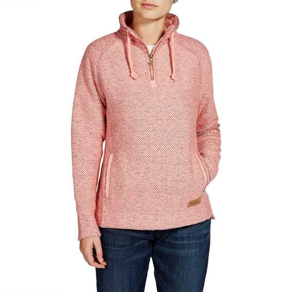 Geranium 1/4 Zip Classic Macaroni Sweatshirt Coral Pink
