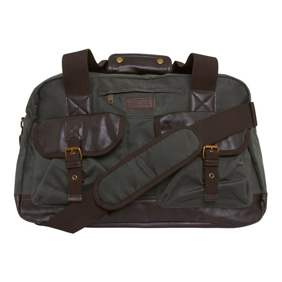 Victor Waxed Canvas Holdall Bag Onyx