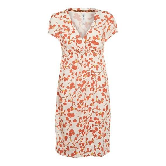 Patroon Printed Tea Dress Ecru
