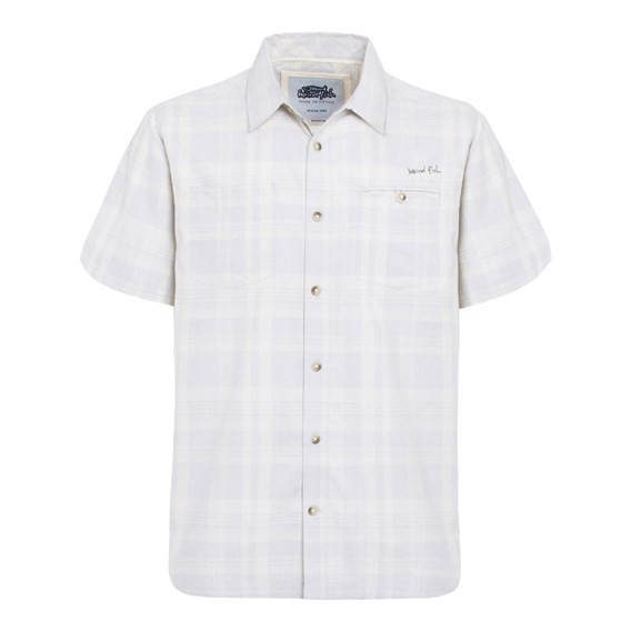 Oder Short Sleeve Twisted Yarn Shirt Pale Silver