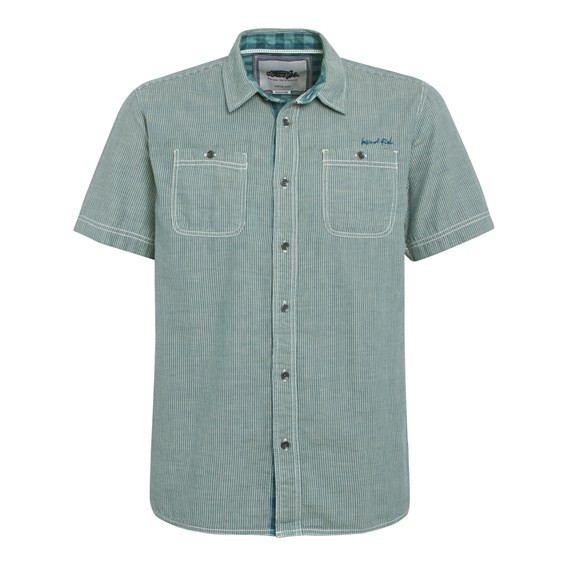 Meuse Short Sleeve Double Faced Shirt Sea Green