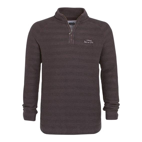 Wye 1/4 Zip Tiger Stripe Macaroni Sweatshirt Concrete