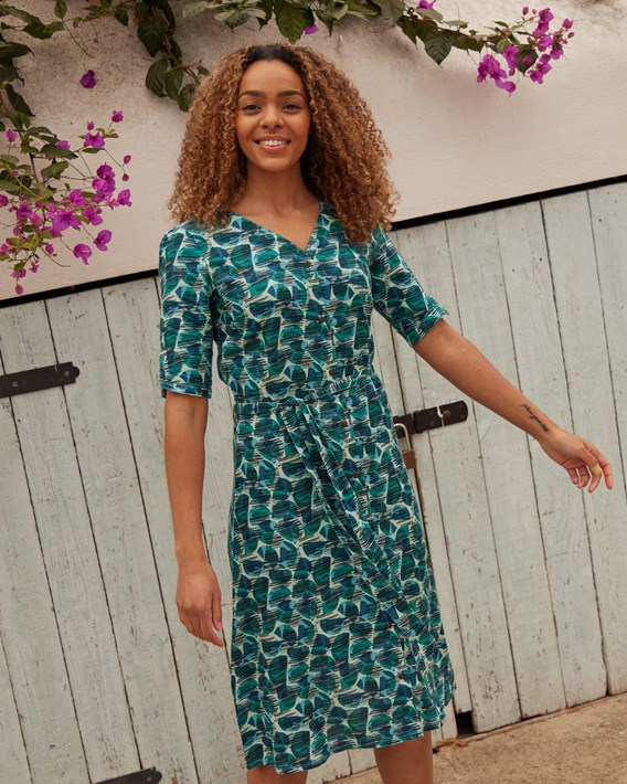Womens in pattern dress