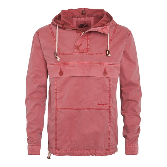 Para Overhead Cotton Cagoule Jacket Chilli Red