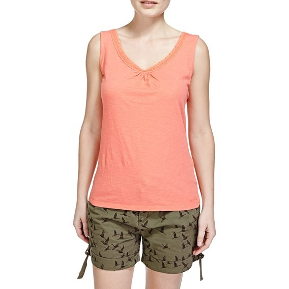 Beeches Vest Top  Hot Coral