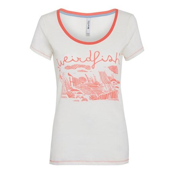 Orion Graphic Print T-Shirt Ecru