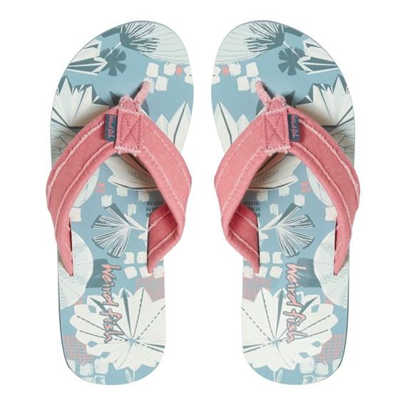 Salcombe Printed Flip Flop Blue Surf