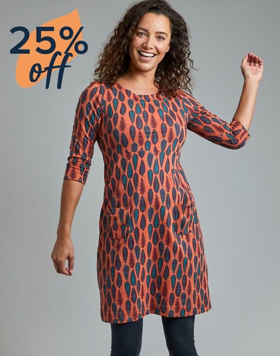 Womens in pattern dress