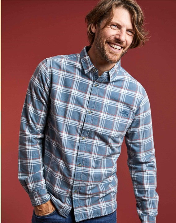 Man in blue t-shirt