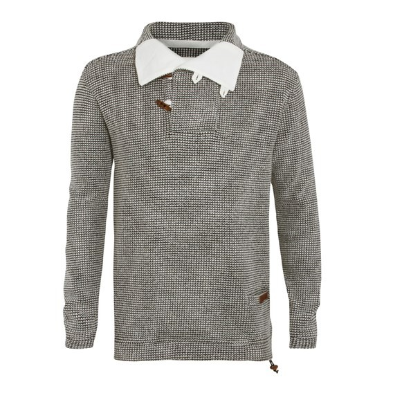 Buoy Knitted Fishermans Jumper Natural
