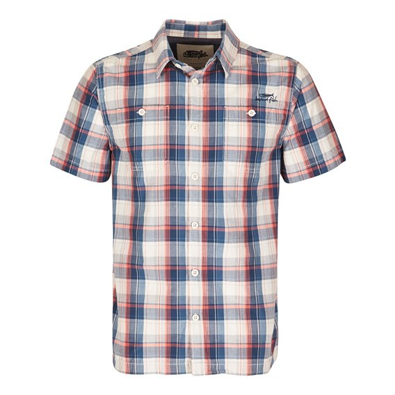 Farley Check Short Sleeve Shirt Whisper White