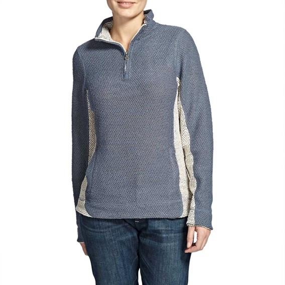 Emmie 1/4 Zip Mac Active Macaroni Sweatshirt Denim