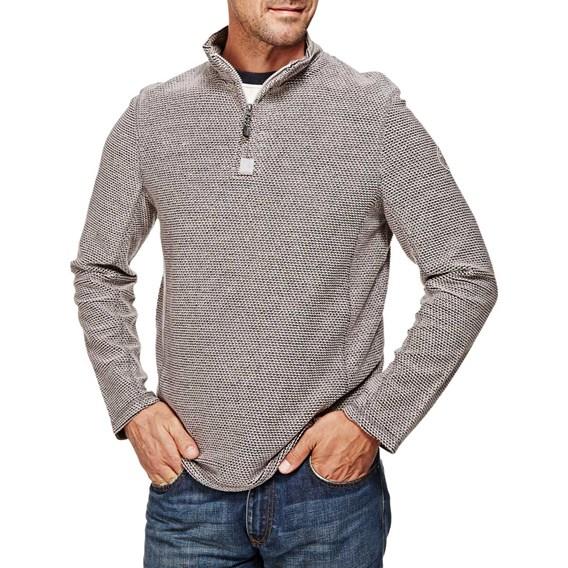 Doren 1/4 Zip Mac Active Macaroni Sweatshirt Frost Grey