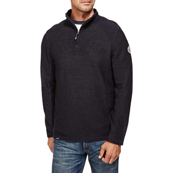 Doren 1/4 Zip Mac Active Macaroni Sweatshirt Navy