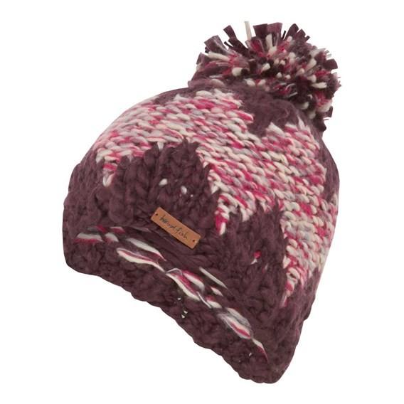 Norway Slub Yarn Soft Chunky Hat Boysenberry