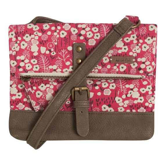 Stockholm Patterned Canvas Cross Body Bag Foxberry