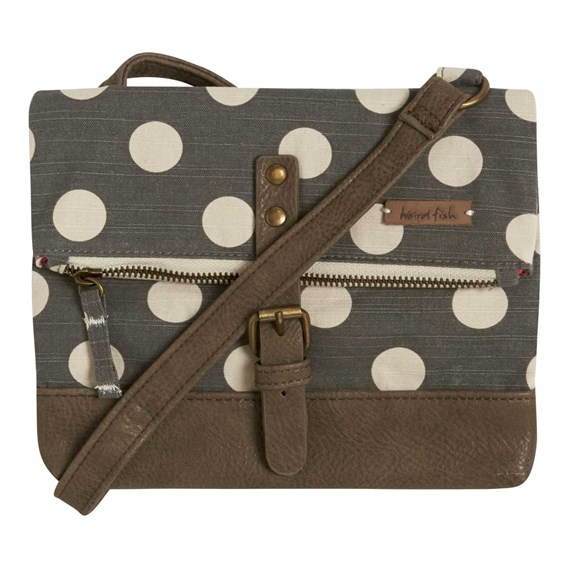 Stockholm Patterned Canvas Cross Body Bag Soot