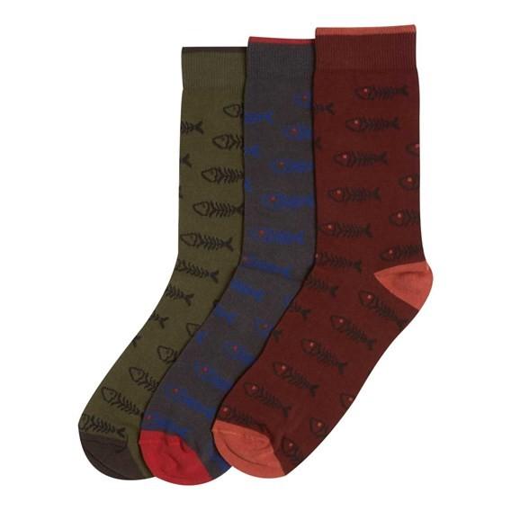 Boreal Classic Jacquard Bones Socks 3 Pack Multi