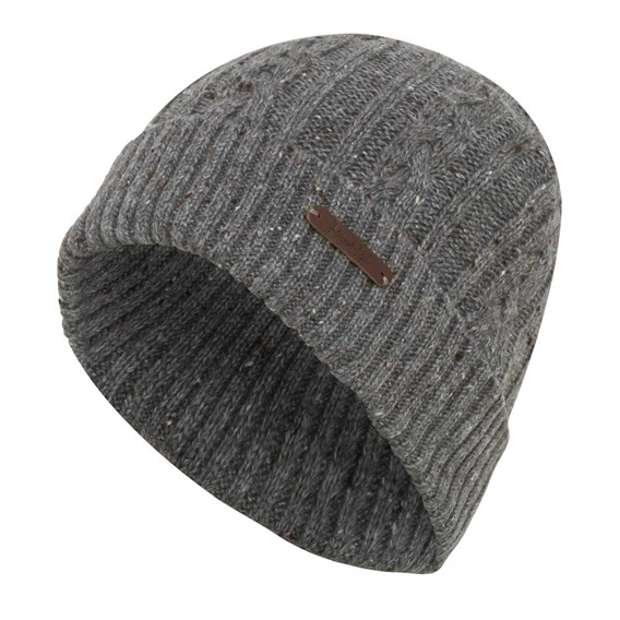 Swiftsure Cable Soft Knitted Beanie Hat Frost Grey