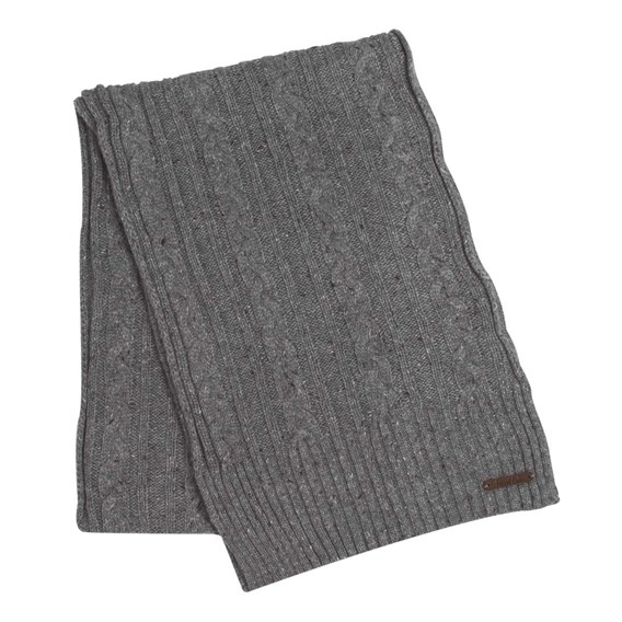 Freewing Soft Cable Knitted Scarf Frost Grey
