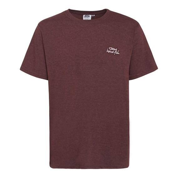 Bones Embroidered Logo Classic Plain T-Shirt Conker Marl