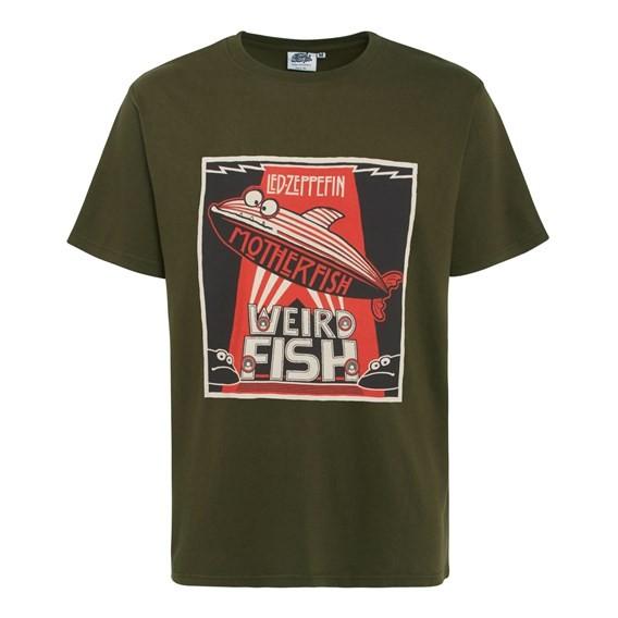 Motherfish Printed Artist T-Shirt Olive Night