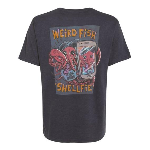 Shelfie Printed Artist T-Shirt Ebony Marl