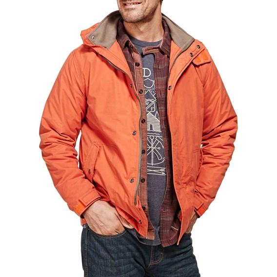 Black Widow Padded Parka Hooded Jacket Orange Rust