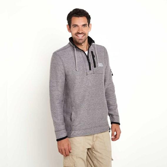 Parkway 1/4 Zip Deluxe Tech Mac Macaroni Sweatshirt Frost Grey
