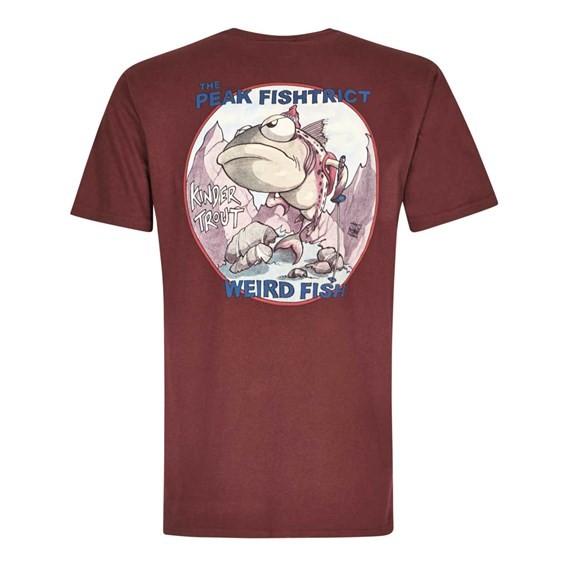 Peak Fishtrict Printed Artist T-Shirt Conker