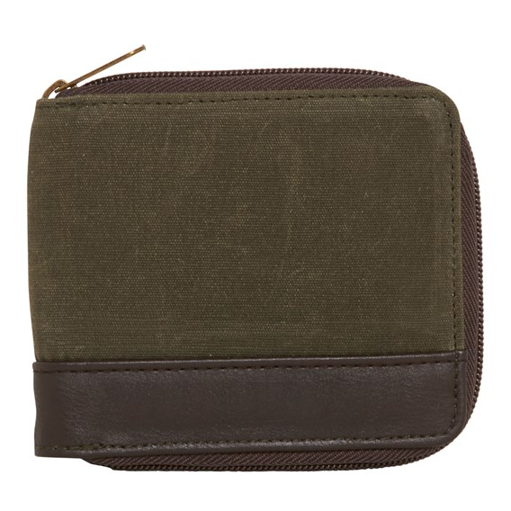 Tuff Waxed Canvas Wallet Army Green