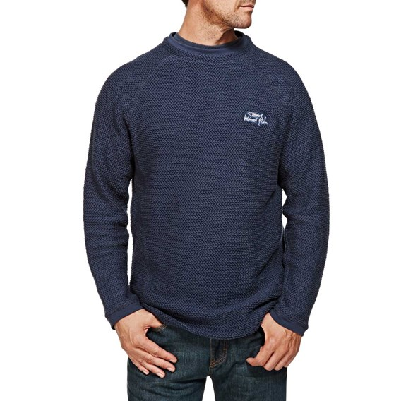 Rowan Plain Crew Neck Macaroni Sweatshirt Dark Navy